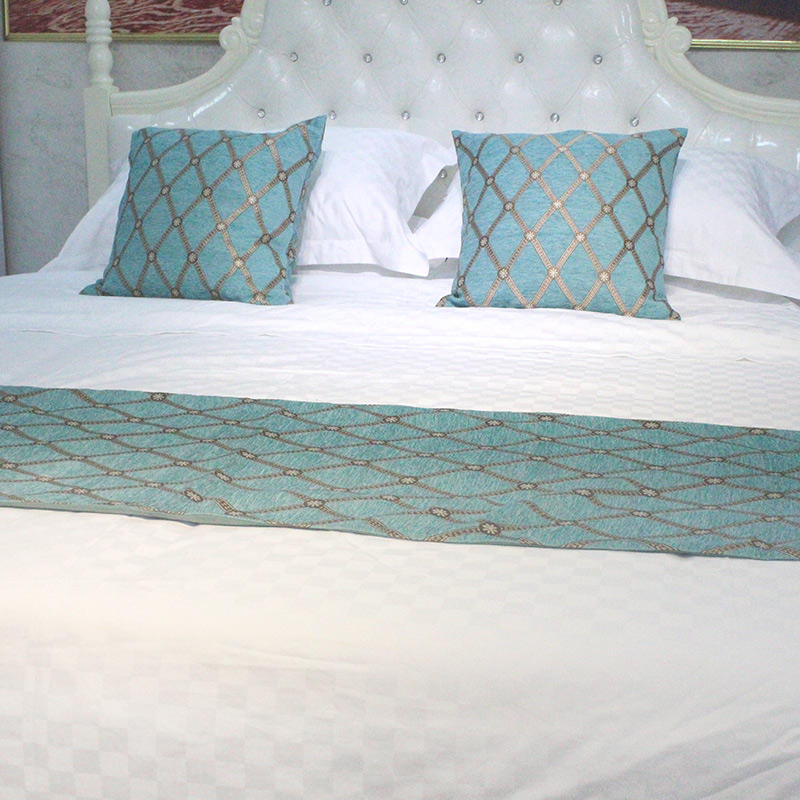 Five-star hotel 2.0m bed,1.8m bed,1.5m bed and 1.2m bed white small square duvet cover