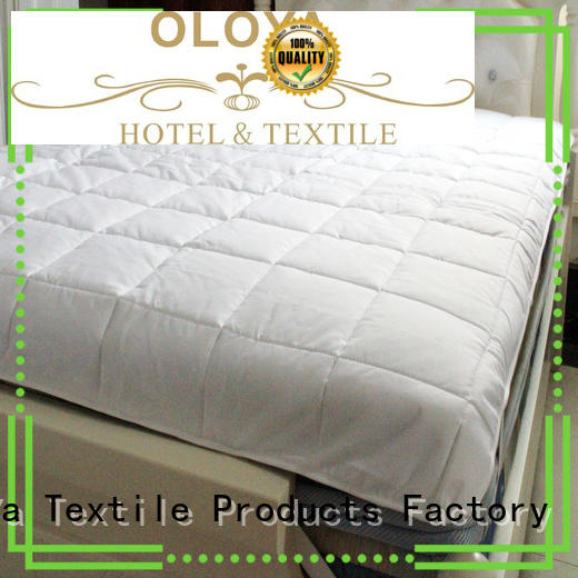 OLOYA elegant bed pad in china for hotel